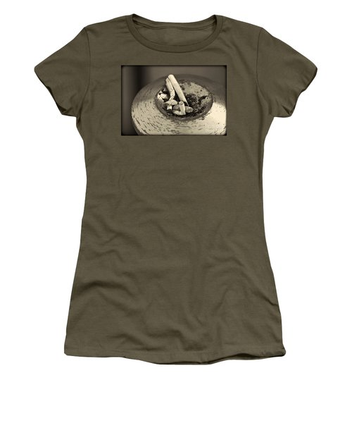 Women's T-Shirt (Junior Cut) featuring the photograph Stubbed Out. by Clare Bambers