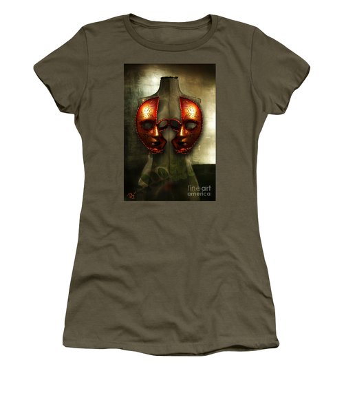 Women's T-Shirt (Junior Cut) featuring the photograph Suckling The Silence  Viriditas by Rosa Cobos