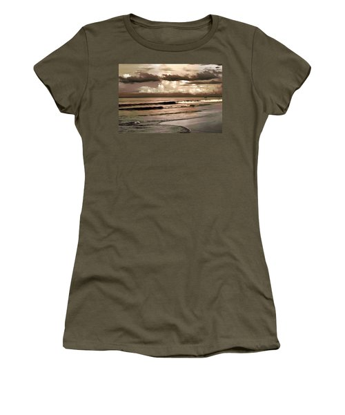 Women's T-Shirt (Junior Cut) featuring the photograph Summer Afternoon At The Beach by Steven Sparks