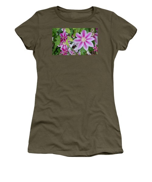 Summer Clematis Women's T-Shirt (Athletic Fit)