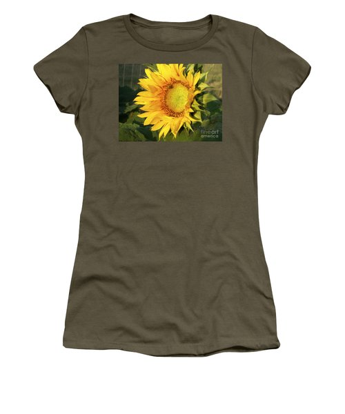 Women's T-Shirt (Junior Cut) featuring the digital art Sunflower Digital Art by Deniece Platt