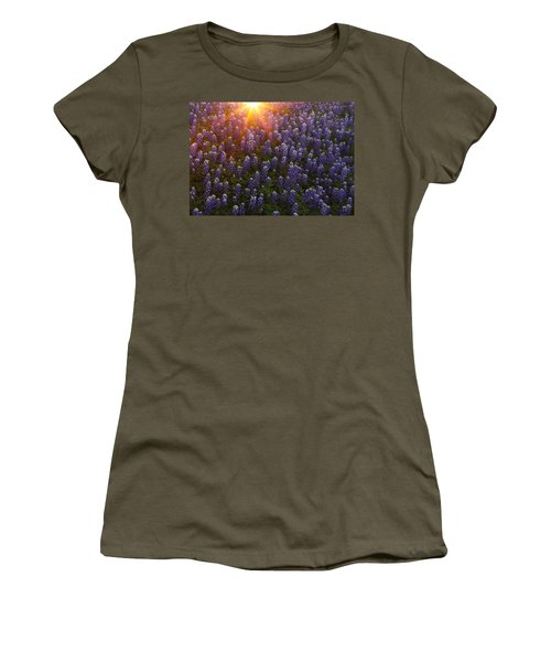Sunset Over Bluebonnets Women's T-Shirt (Junior Cut) by Susan Rovira