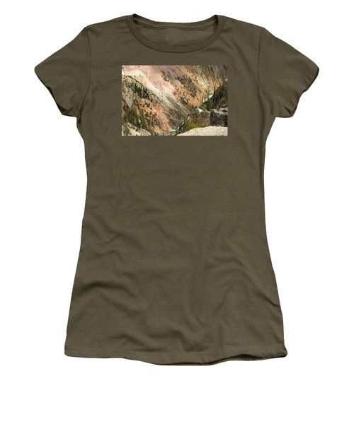 Sunshine On Grand Canyon In Yellowstone Women's T-Shirt (Junior Cut) by Living Color Photography Lorraine Lynch