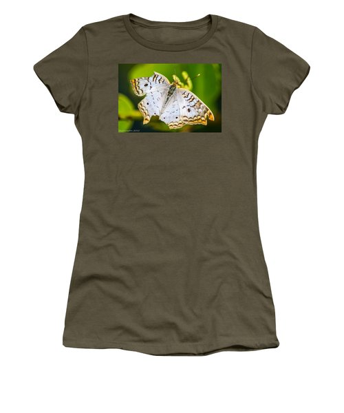 Women's T-Shirt (Junior Cut) featuring the photograph Tattered Moth by Shannon Harrington