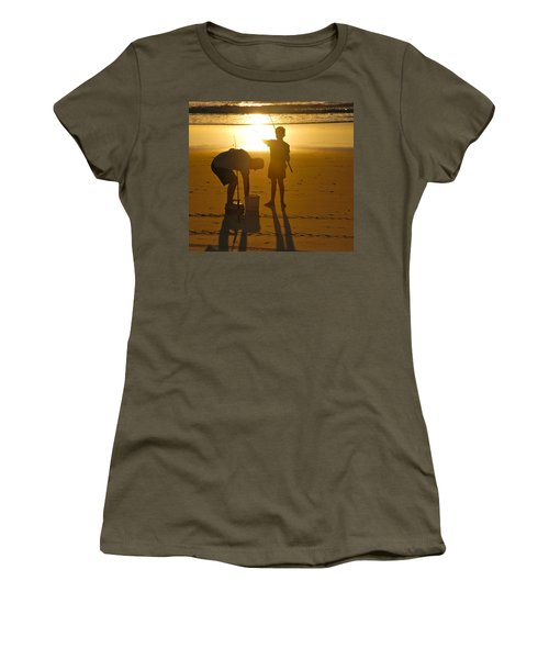 Women's T-Shirt (Junior Cut) featuring the photograph Teach A Man To Fish... by Eric Tressler