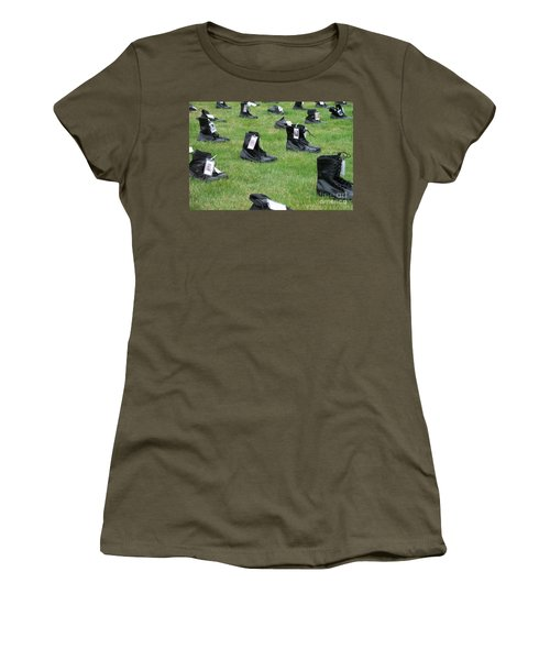 Women's T-Shirt (Junior Cut) featuring the photograph The Cost Of War by Chalet Roome-Rigdon