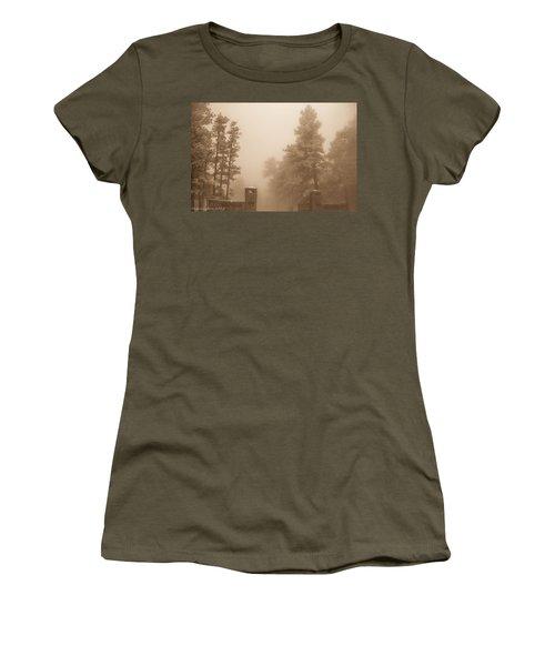 Women's T-Shirt (Junior Cut) featuring the photograph The Fog by Shannon Harrington
