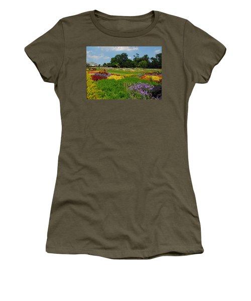The Gardens Of The Conservatory Women's T-Shirt (Junior Cut) by Lynn Bauer