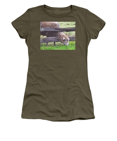Women's T-Shirt (Junior Cut) featuring the photograph The Grass...on The Other Side by Lydia Holly
