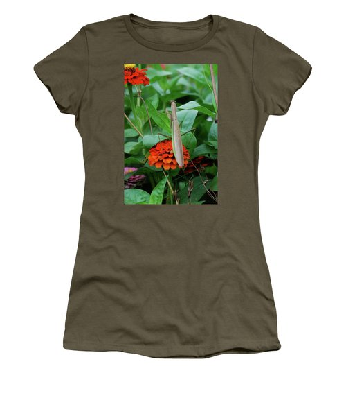 Women's T-Shirt (Junior Cut) featuring the photograph The Patience Of A Mantis by Thomas Woolworth