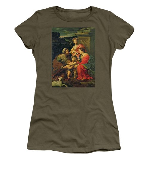 The Virgin And Child With Saints Women's T-Shirt