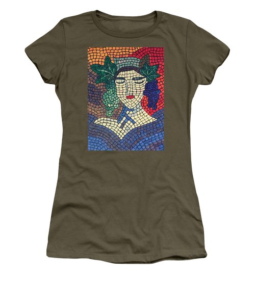 Women's T-Shirt featuring the painting The Winery by Cynthia Amaral