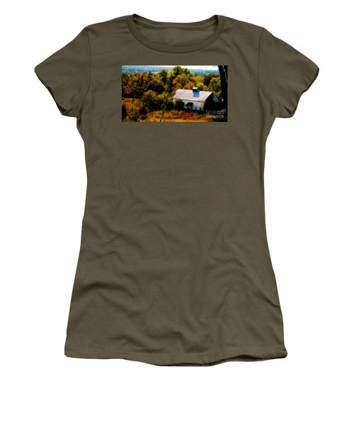 Women's T-Shirt (Junior Cut) featuring the photograph Touch Of Old Country by Peggy Franz