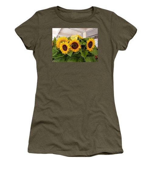 Tournesol Women's T-Shirt (Junior Cut) by Carla Parris