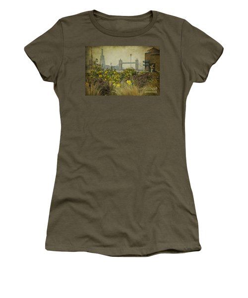 Women's T-Shirt (Junior Cut) featuring the photograph Tower Bridge In Springtime. by Clare Bambers