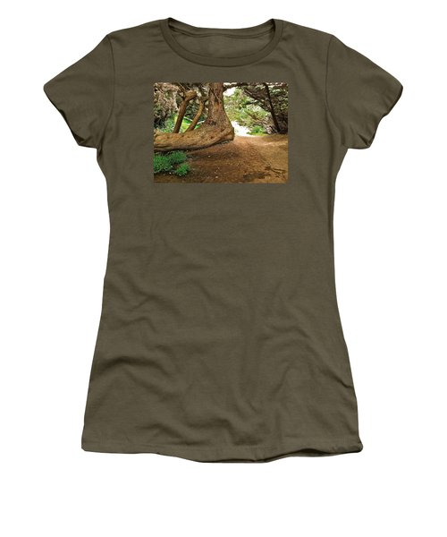 Women's T-Shirt (Junior Cut) featuring the photograph Tree And Trail by Bill Owen
