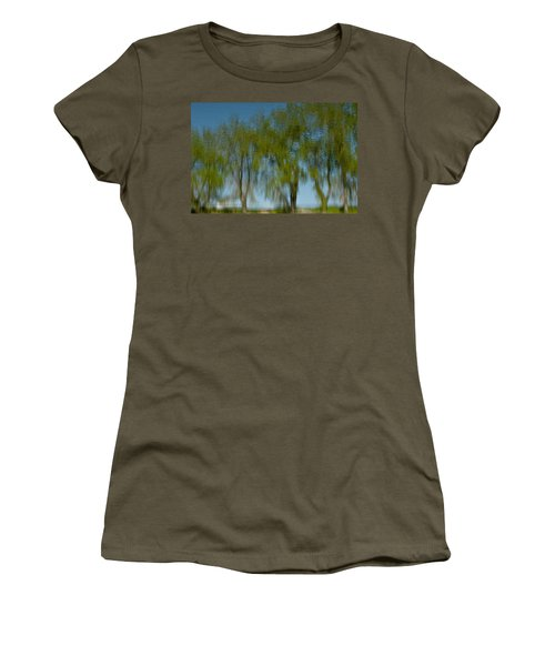 Tree Line Reflections Women's T-Shirt (Athletic Fit)