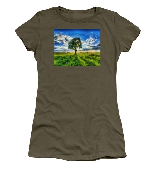 Women's T-Shirt (Junior Cut) featuring the painting Tree Of Life by Joe Misrasi