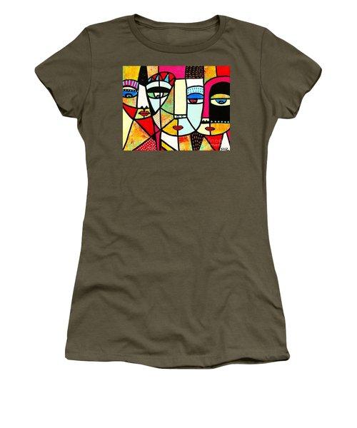 Tribal Batik Mask Spiritual Women's T-Shirt