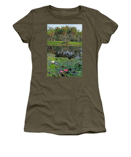 Tropical Splendor Women's T-Shirt (Junior Cut) by Larry Nieland