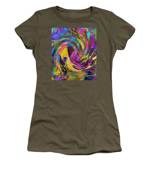 Women's T-Shirt (Junior Cut) featuring the mixed media Tsunami by Kevin Caudill