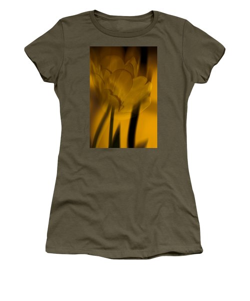 Women's T-Shirt (Junior Cut) featuring the photograph Tulip Abstract by Ed Gleichman