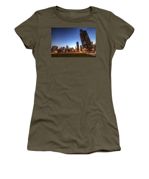 Twilight In Chicago Women's T-Shirt