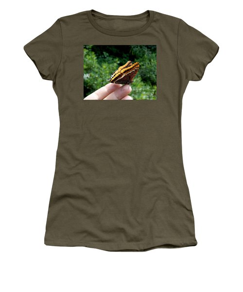 Women's T-Shirt (Junior Cut) featuring the photograph Two Tailed Pasha by Lainie Wrightson