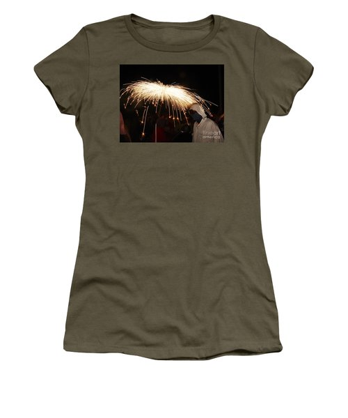 Women's T-Shirt featuring the photograph Umbrella Of Sparks by Agusti Pardo Rossello