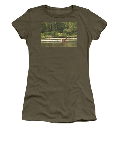 Women's T-Shirt (Junior Cut) featuring the photograph Unusual Pair  by Jeannette Hunt