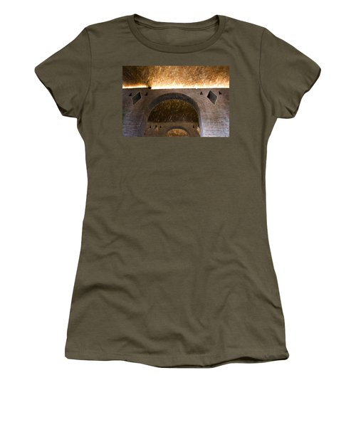 Women's T-Shirt (Junior Cut) featuring the photograph Vaulted Brick Arches by Lynn Palmer