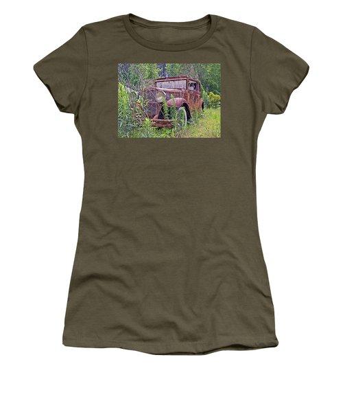 Women's T-Shirt (Junior Cut) featuring the photograph Vintage Automobile by Susan Leggett