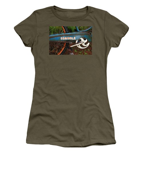 Hiawatha Seminole Vintage Bicycle Women's T-Shirt (Athletic Fit)