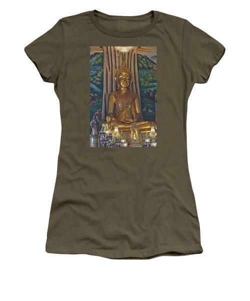 Wat Kaewjamfa Ubosot Principal Buddha Dthb1072 Women's T-Shirt