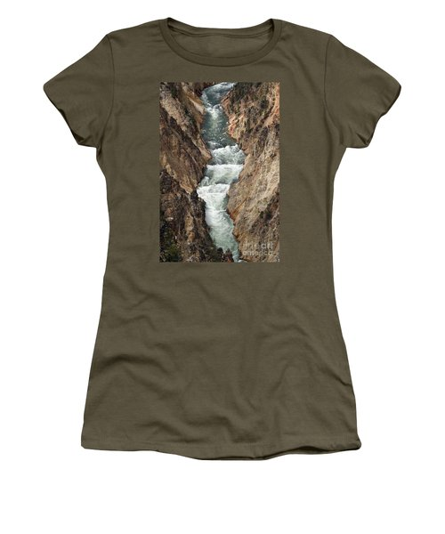 Water And Rock Women's T-Shirt (Junior Cut) by Living Color Photography Lorraine Lynch