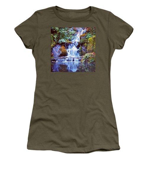Waterfall - Portland Japanese Garden Portland Or Women's T-Shirt