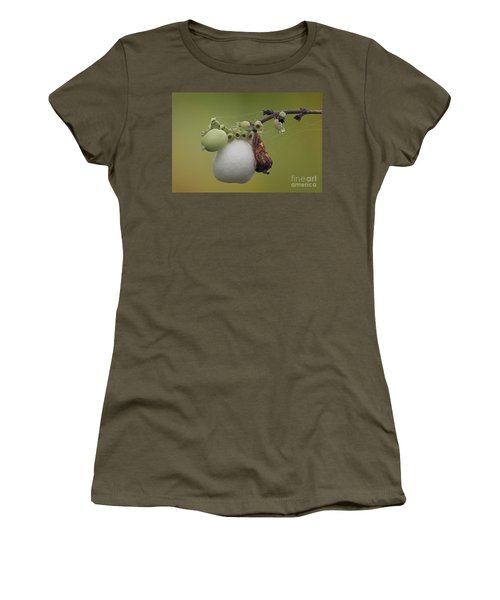 Women's T-Shirt (Junior Cut) featuring the photograph Webbed Berry by Eunice Gibb