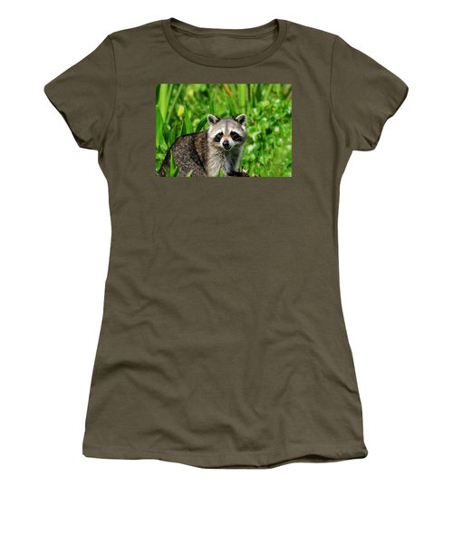 Wetlands Racoon Bandit Women's T-Shirt (Athletic Fit)
