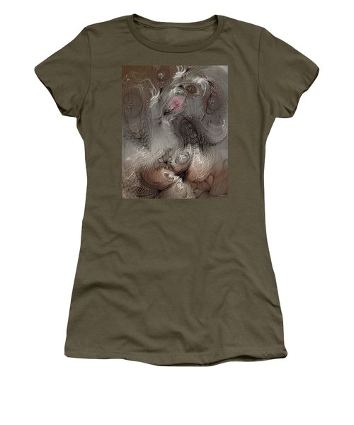 Women's T-Shirt (Junior Cut) featuring the digital art Whims Within by Casey Kotas