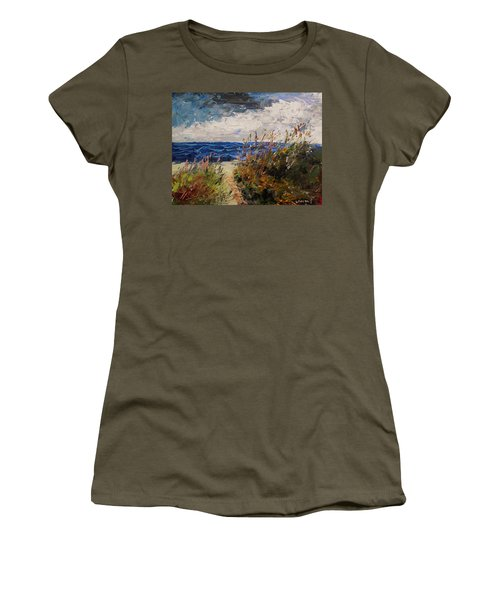 Wildflowers And Wind Women's T-Shirt (Athletic Fit)