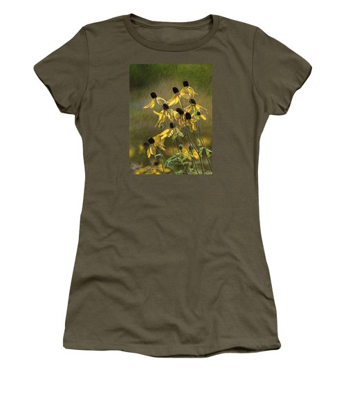Yellow Coneflowers Women's T-Shirt (Athletic Fit)