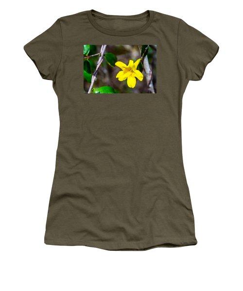Women's T-Shirt (Junior Cut) featuring the photograph Yellow by Shannon Harrington