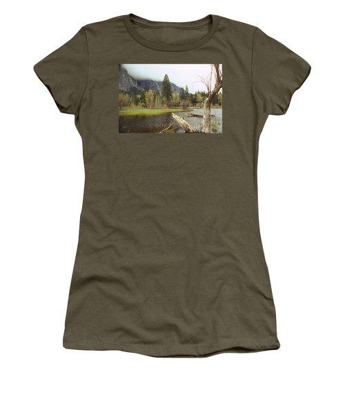Yosemite Women's T-Shirt (Junior Cut) by Mark Greenberg