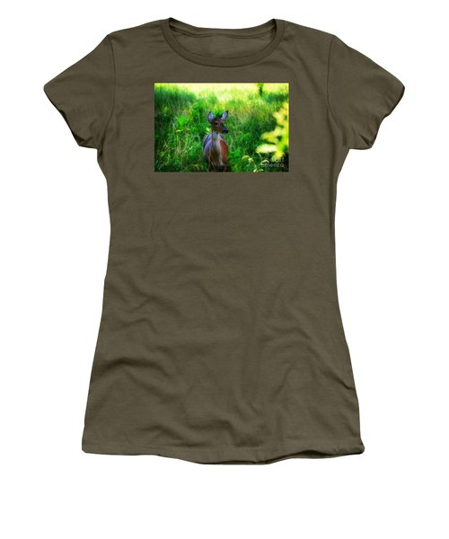 Young Deer Women's T-Shirt (Athletic Fit)
