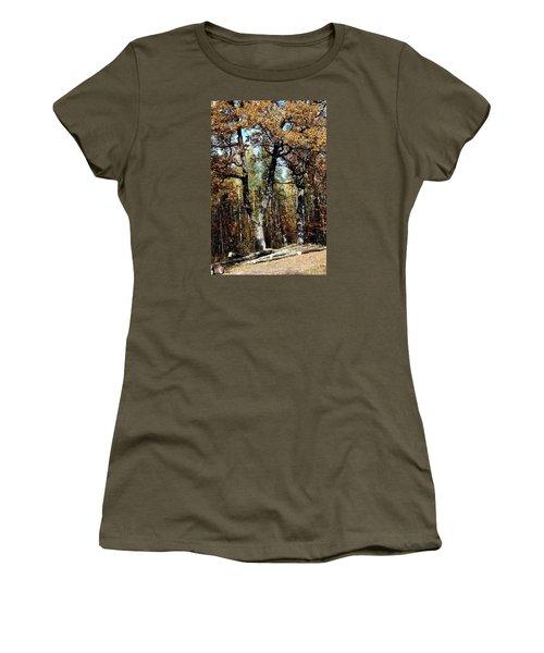 Autumn In Forest Women's T-Shirt (Junior Cut) by Henryk Gorecki