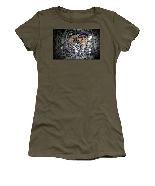 Bank Security Officer - On A Rainy Day Women's T-Shirt (Junior Cut) by Ian Gledhill