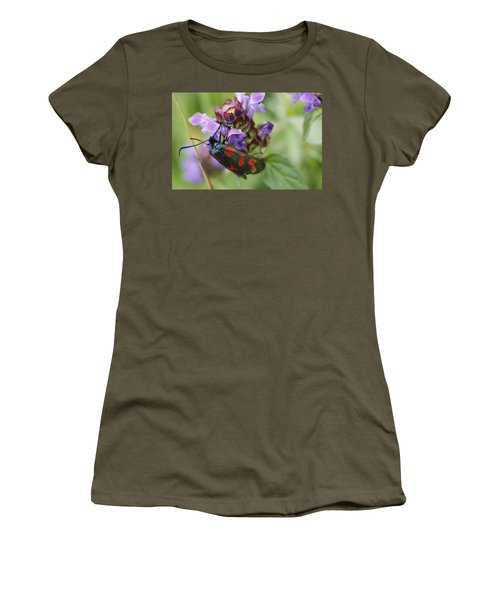 Burnet Moth Women's T-Shirt (Junior Cut) by Martina Fagan