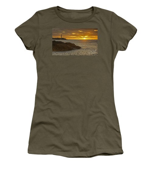 Ninini Point Lighthouse Sunrise Women's T-Shirt (Athletic Fit)