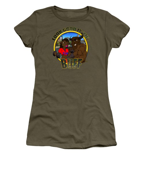 04 Look Good In The Buff Women's T-Shirt (Junior Cut) by Michael Frank Jr