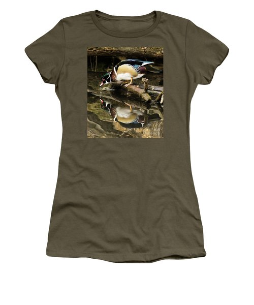 A Sip For You And Me Wildlife Art By Kaylyn Franks Women's T-Shirt